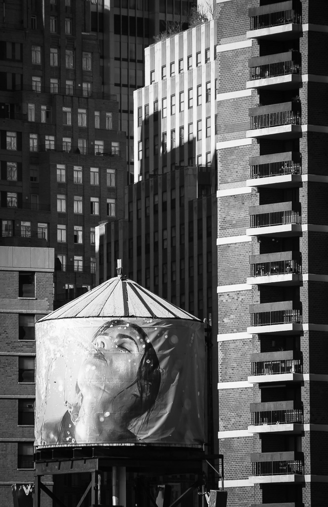 Wrapped Water Tower